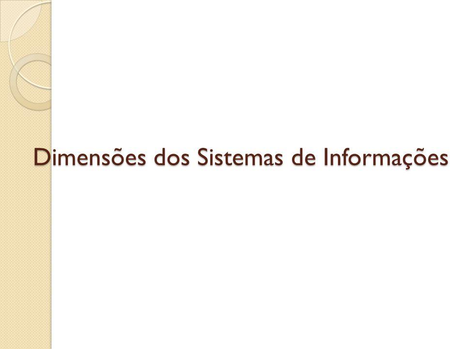Dimensões dos Sistemas de Informações