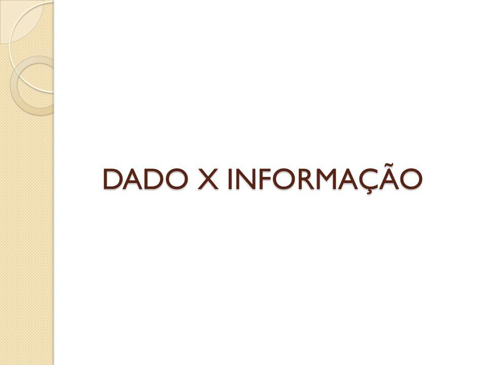 DADO X INFORMAÇÃO
