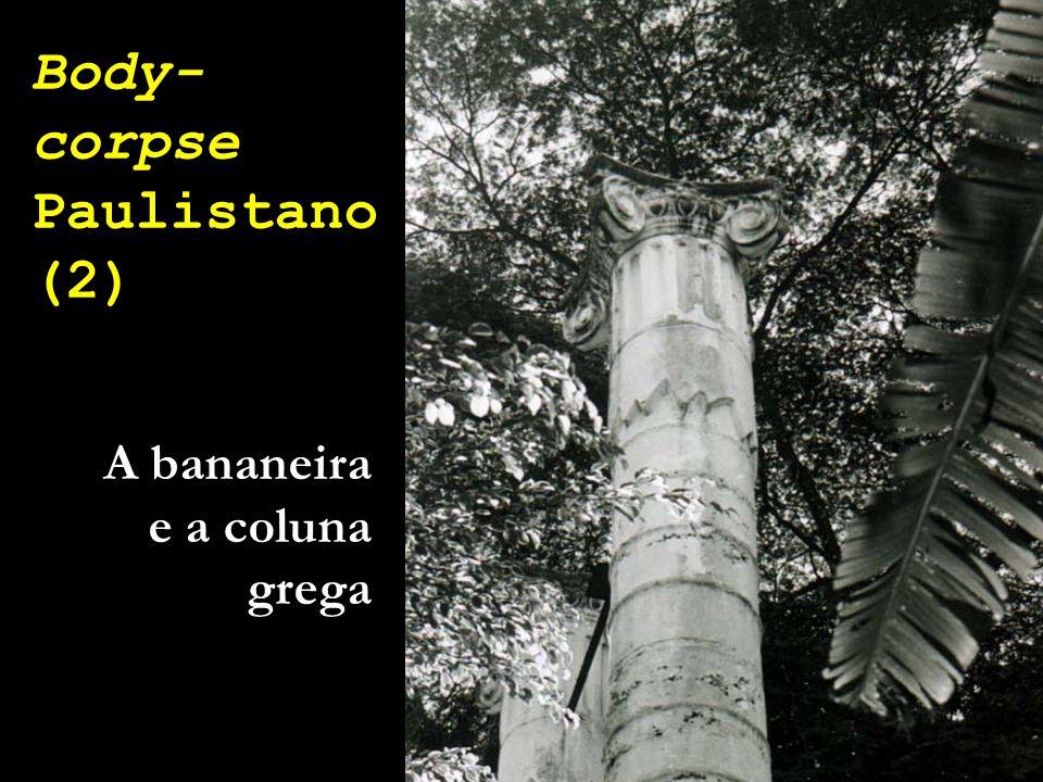 Body- corpse Paulistano (2) A bananeira e a coluna grega
