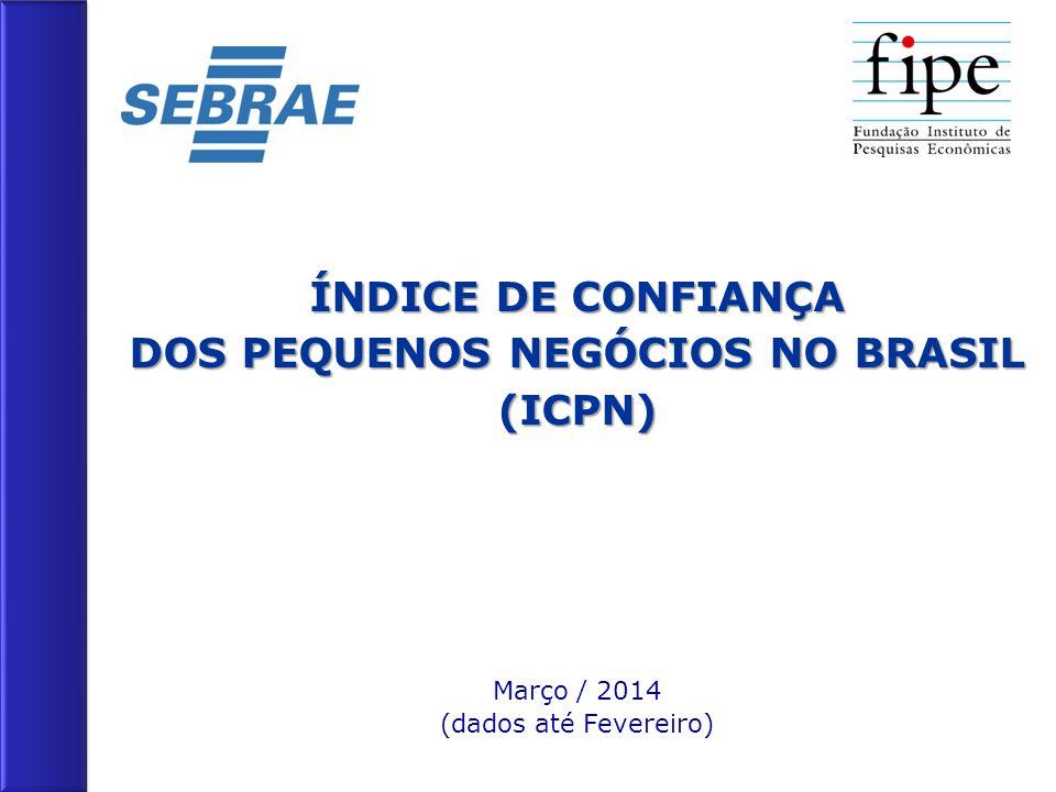 ÍNDICE DE CONFIANÇA DOS PEQUENOS NEGÓCIOS NO BRASIL (ICPN) Março / 2014 (dados até Fevereiro)