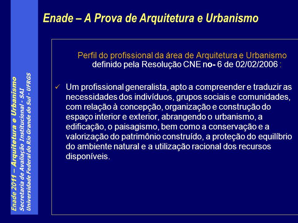 Perfil do profissional da área de Arquitetura e Urbanismo definido pela Resolução CNE no- 6 de 02/02/2006 : Um profissional generalista, apto a compre