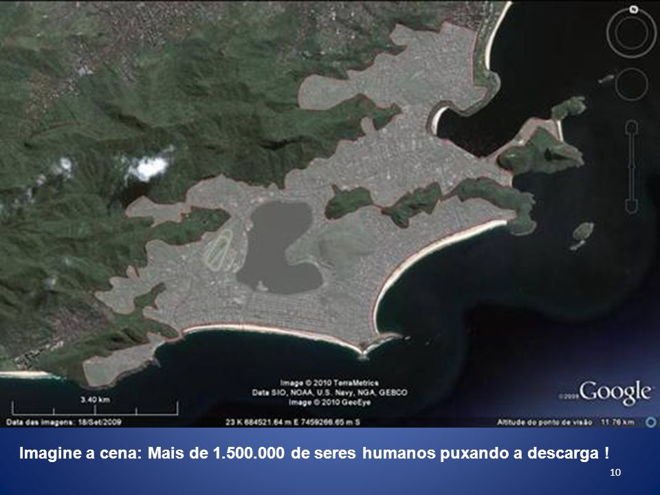 10 Imagine a cena: Mais de 1.500.000 de seres humanos puxando a descarga !