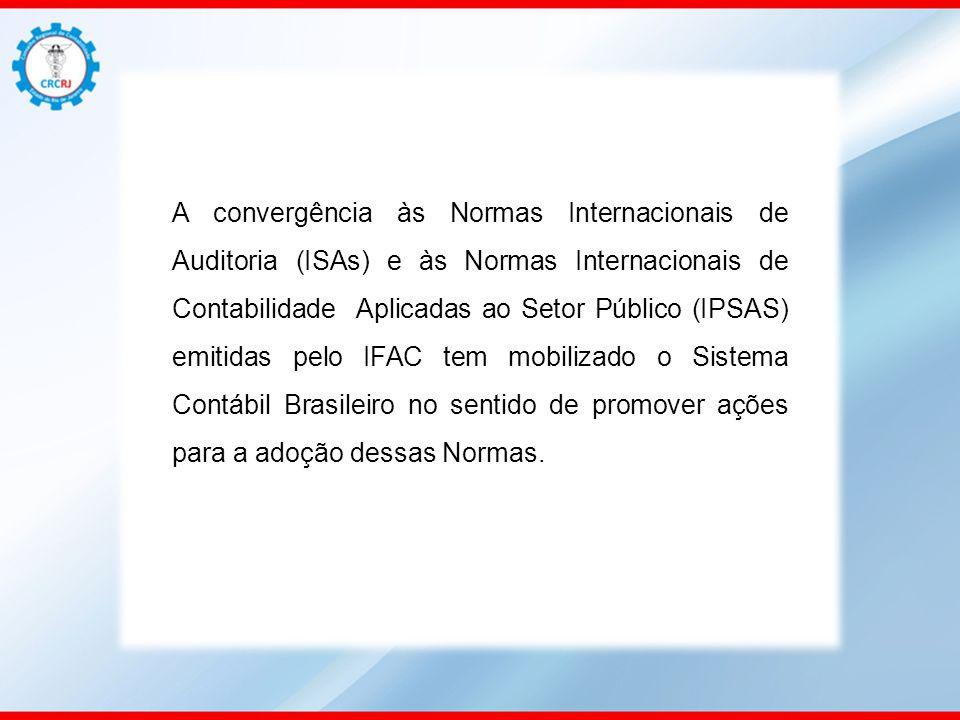 A convergência às Normas Internacionais de Auditoria (ISAs) e às Normas Internacionais de Contabilidade Aplicadas ao Setor Público (IPSAS) emitidas pe