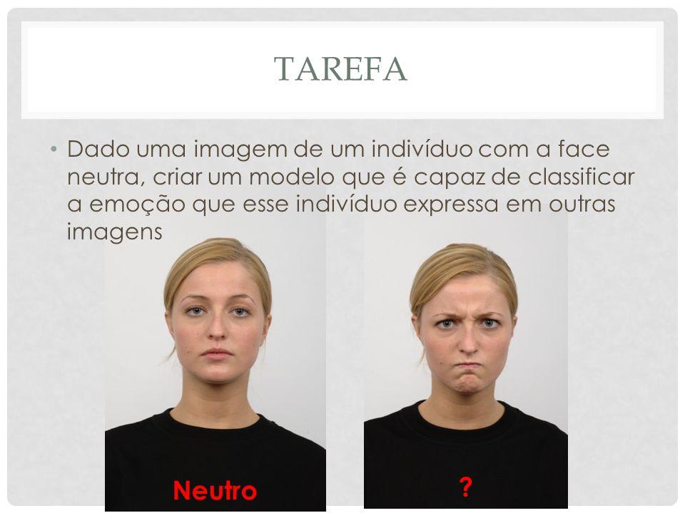 TAREFA Dado uma imagem de um indivíduo com a face neutra, criar um modelo que é capaz de classificar a emoção que esse indivíduo expressa em outras imagens Neutro ?