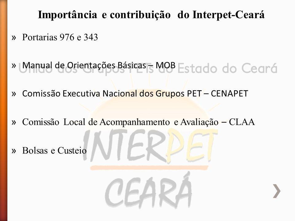 » Portarias 976 e 343 » Manual de Orientações Básicas – MOB » Comissão Executiva Nacional dos Grupos PET – CENAPET » Comissão Local de Acompanhamento