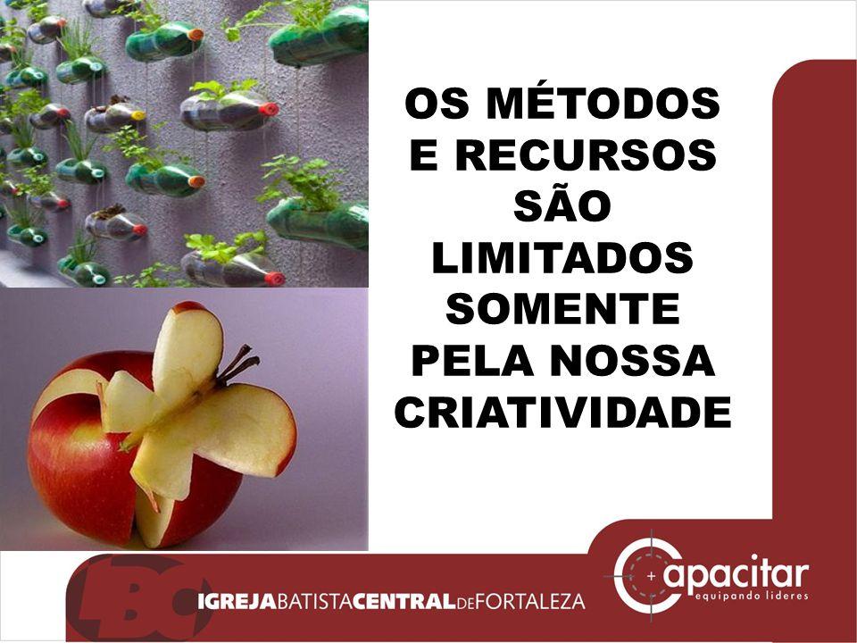 OS MÉTODOS E RECURSOS SÃO LIMITADOS SOMENTE PELA NOSSA CRIATIVIDADE