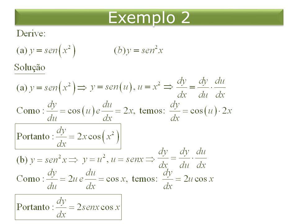 A Regra da Potência Generalizada Exemplo 3