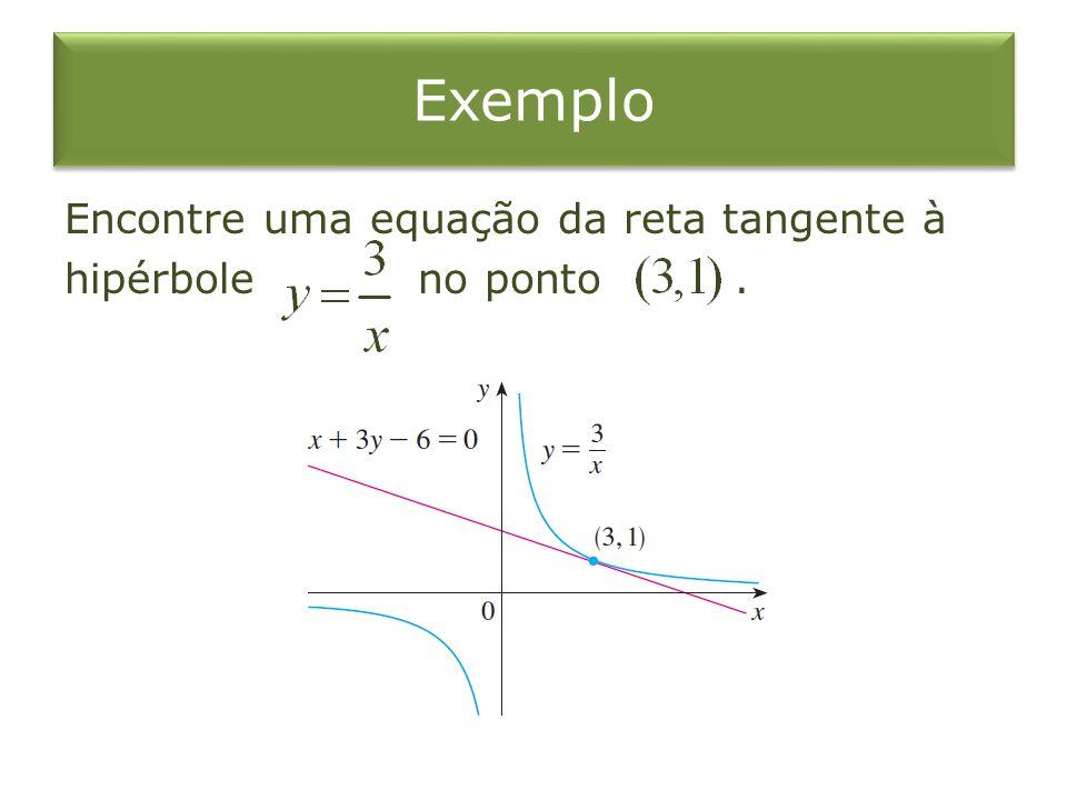Taxa de Variação Taxa instantânea de variação A derivada é a taxa instantânea de variação de em relação a, quando.