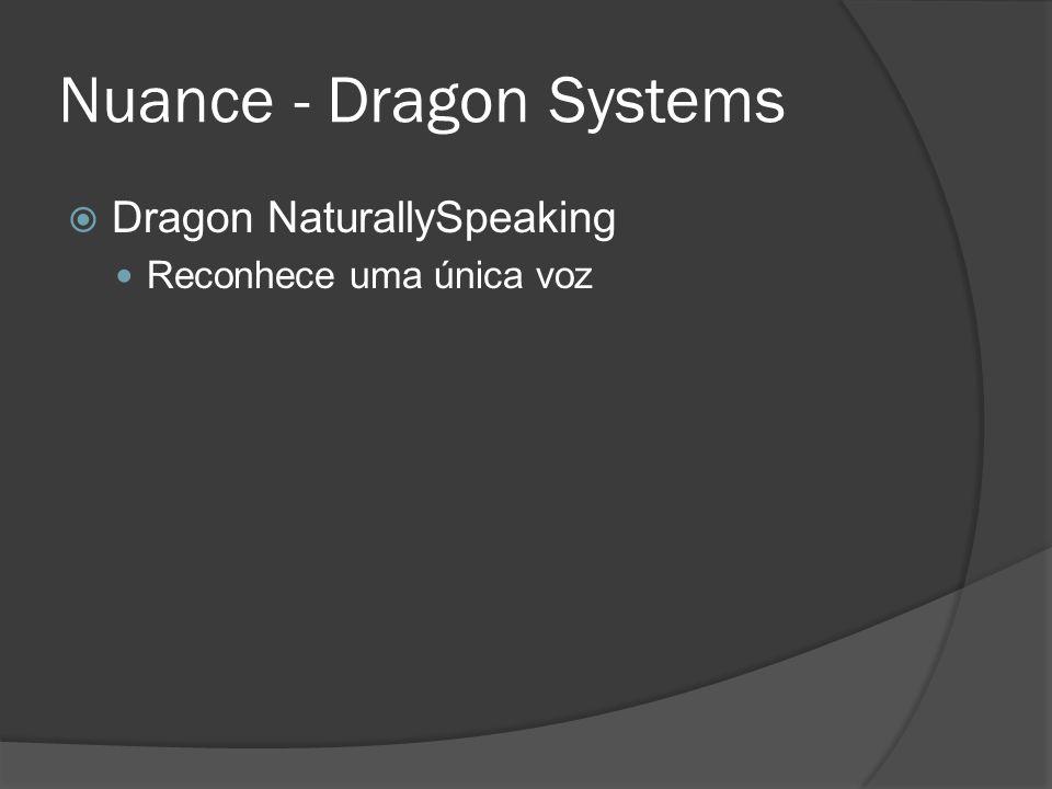 Nuance - Dragon Systems  Dragon NaturallySpeaking Reconhece uma única voz