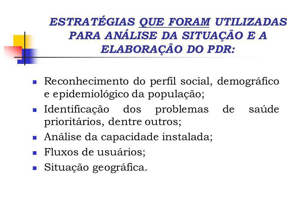 ESTRATÉGIAS UTILIZADAS VISANDO A ADEQUAÇÃO DO PDR AO DF: Reorganização das Regiões Administrativas levando em conta a distribuição geográfica, populacional e a oferta de serviços.
