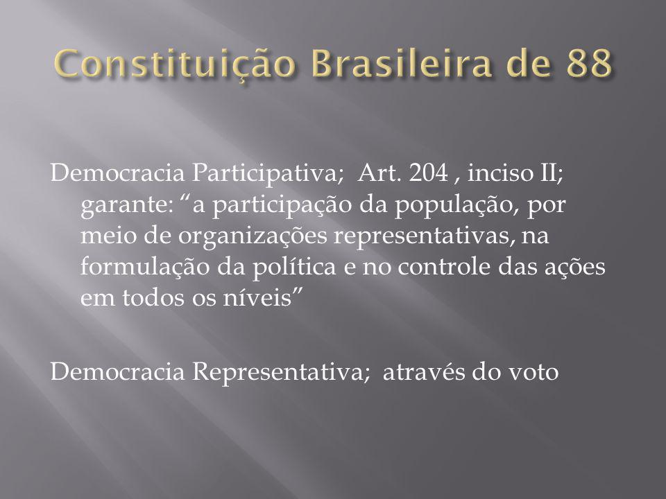 Democracia Participativa; Art.