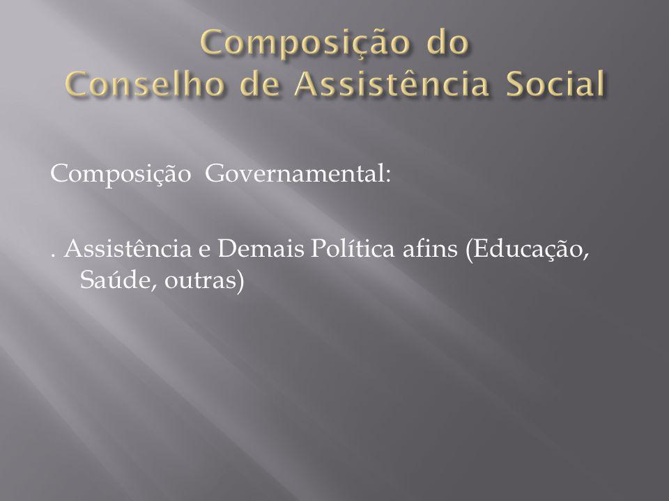 Composição da Sociedade Civil Organizada:.