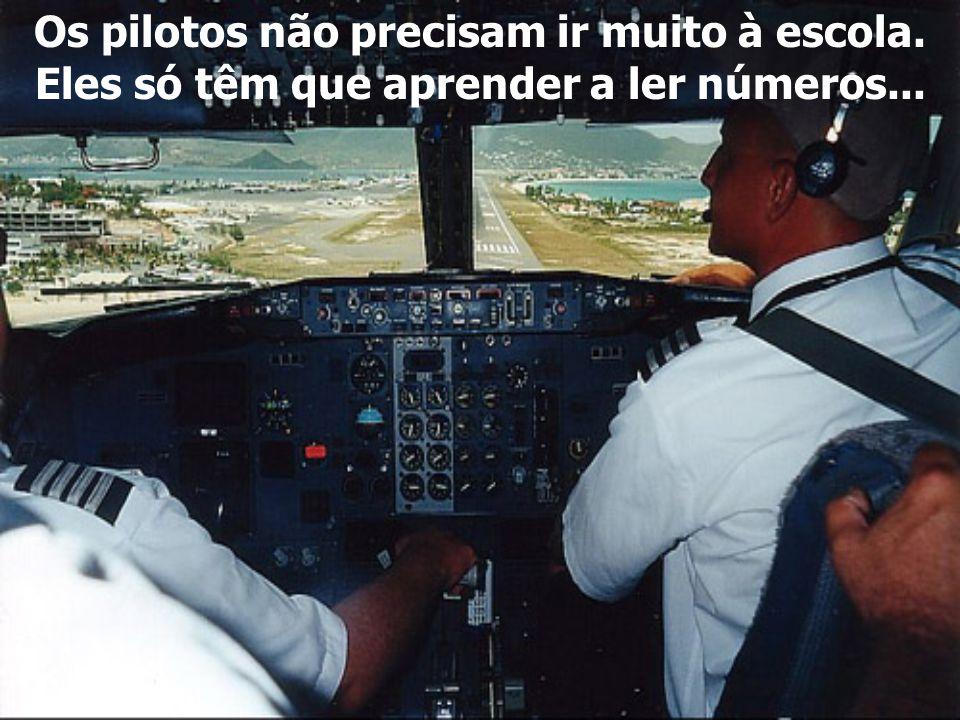 e se eu tiver enjôo, não vou poder ser um piloto e daí terei que arranjar um trabalho.