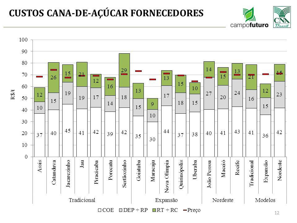 CUSTOS CANA-DE-AÇÚCAR FORNECEDORES 12