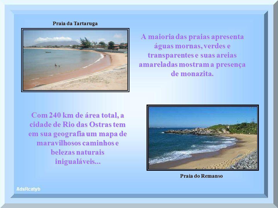 Praia da Tartaruga Praia do Remanso A maioria das praias apresenta águas mornas, verdes e transparentes e suas areias amareladas mostram a presença de monazita.