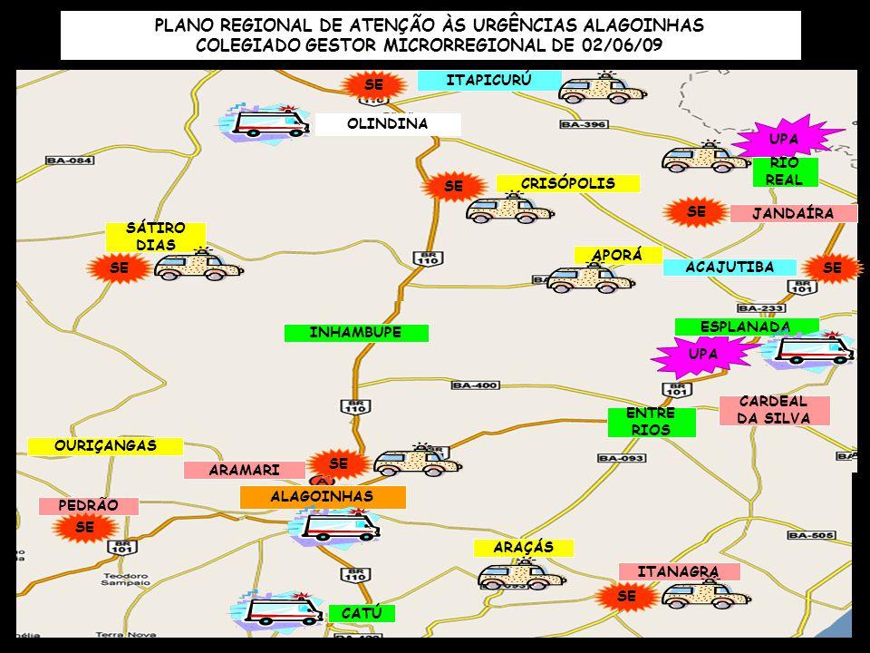 ITAPETINGA IGUAÍ NOVA CANAÃ IBICUÍ FIRMINO ALVES ITORORÓ CAATIBA MACARANI ITARANTIM POTIRAGUÁ MAIQUINIQUE UPA ITAMBÉ PLANO REGIONAL DE URGÊNCIA ITAPETINGA – CGMR DE 26/06/2009