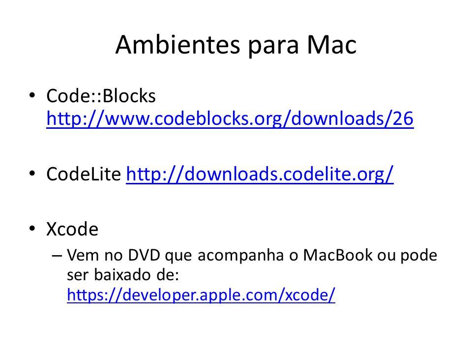 Apps para iOS Para iPad e iPhone – C Programming Language https://itunes.apple.com/br/artist/dmitry- kovba/id499545921?l=en https://itunes.apple.com/br/artist/dmitry- kovba/id499545921?l=en – CodeToGo https://itunes.apple.com/br/app/codetogo/id38267722 9?l=en&mt=8 https://itunes.apple.com/br/app/codetogo/id38267722 9?l=en&mt=8 – Gusto - Code Editor https://itunes.apple.com/us/app/gusto/id364906873.