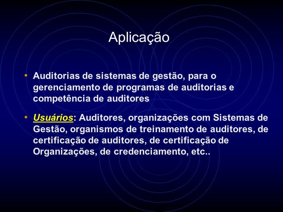 Tipos de Auditorias Auditorias de 1a. Parte - Auditorias de 1a. Parte: É uma Ferramenta gerencial de monitoramento - Auditorias de 2a. Parte: Avaliaçã