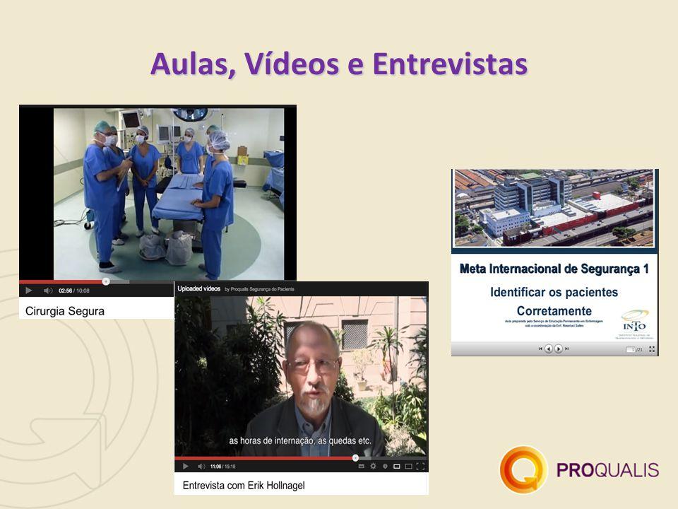 Aulas, Vídeos e Entrevistas