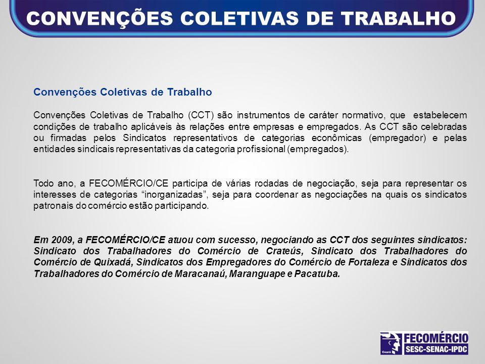Convenções Coletivas de Trabalho Convenções Coletivas de Trabalho (CCT) são instrumentos de caráter normativo, que estabelecem condições de trabalho a