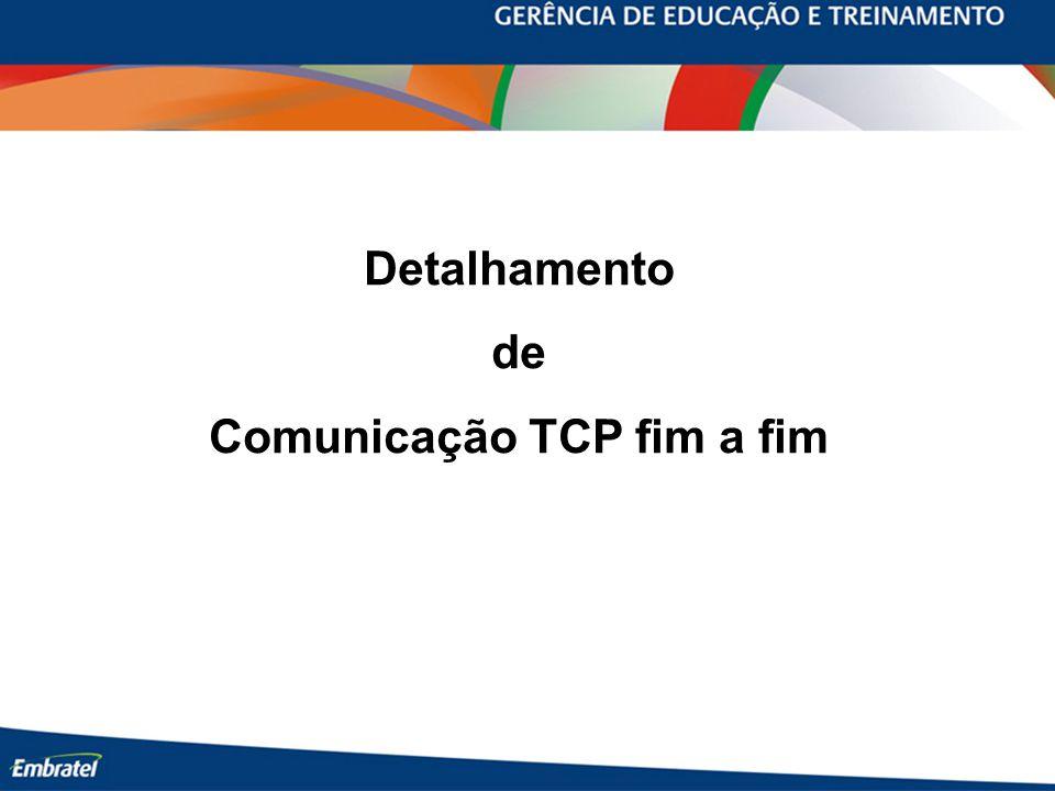 Detalhamento de Comunicação TCP fim a fim