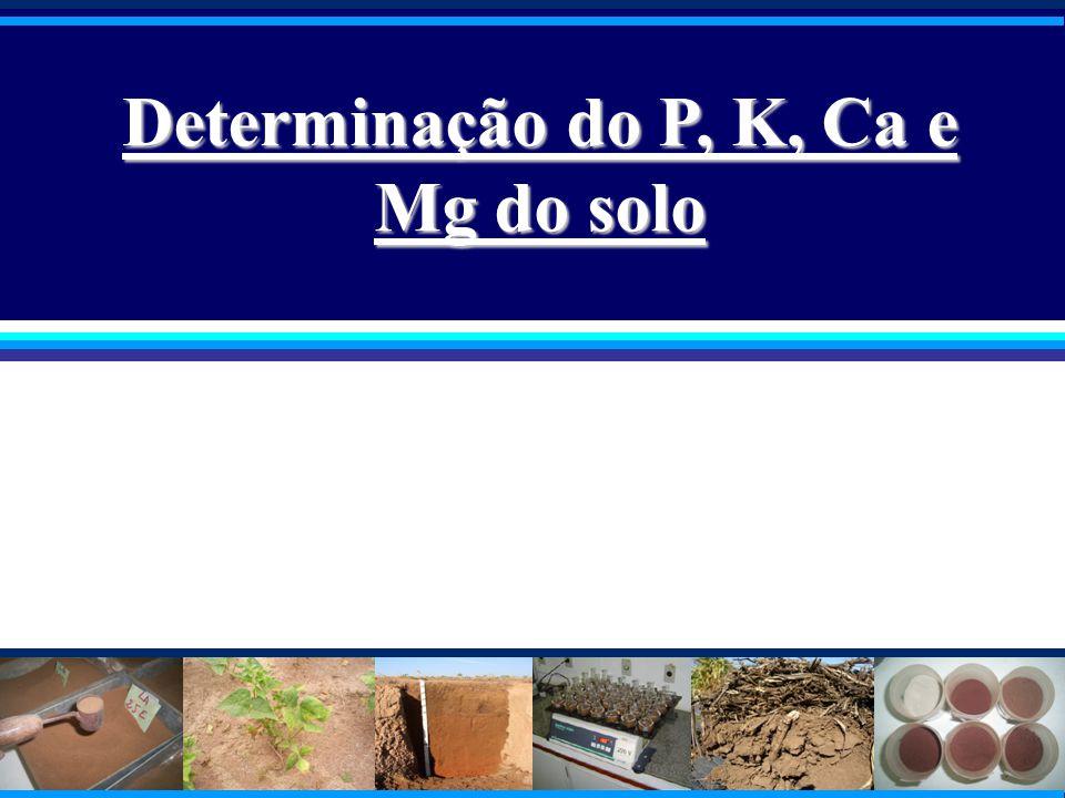 Determinação do P, K, Ca e Mg do solo