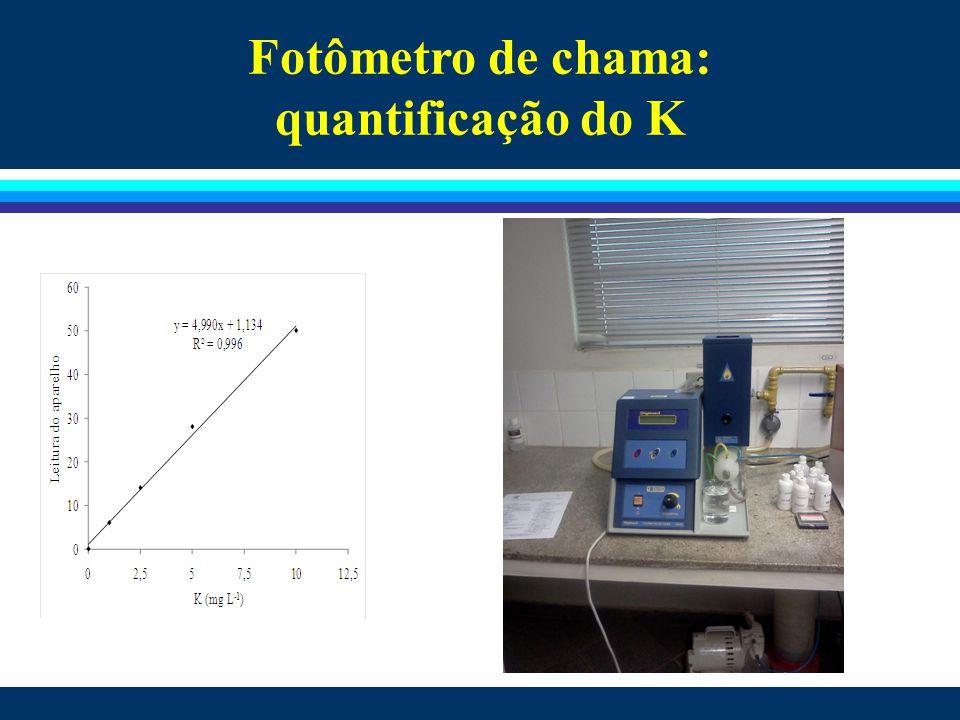 Fotômetro de chama: quantificação do K