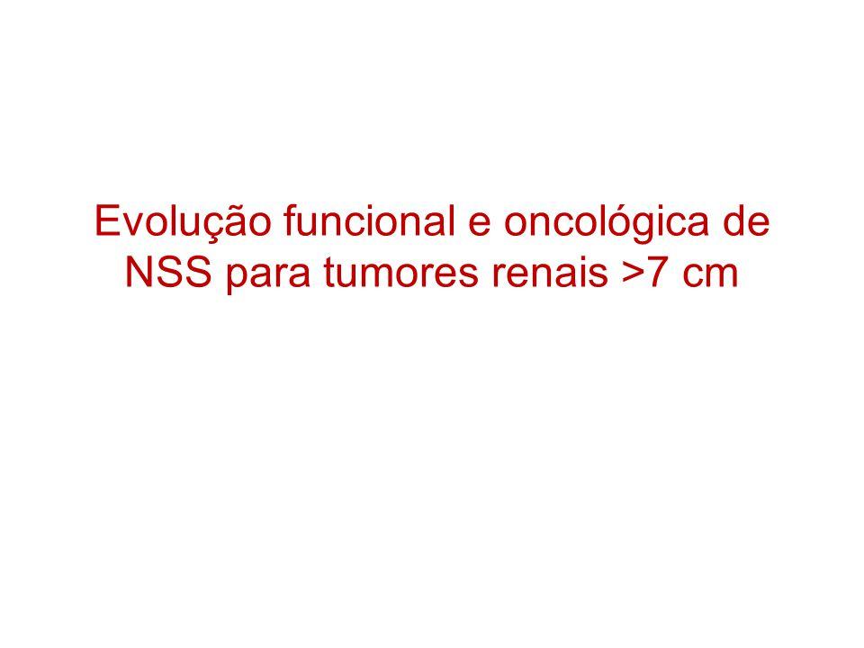Evolução funcional e oncológica de NSS para tumores renais >7 cm