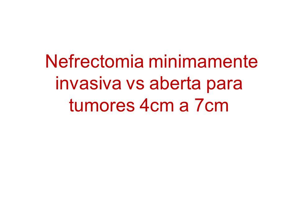 Nefrectomia minimamente invasiva vs aberta para tumores 4cm a 7cm