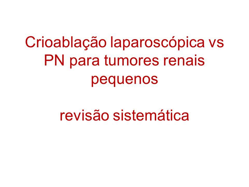 Crioablação laparoscópica vs PN para tumores renais pequenos revisão sistemática