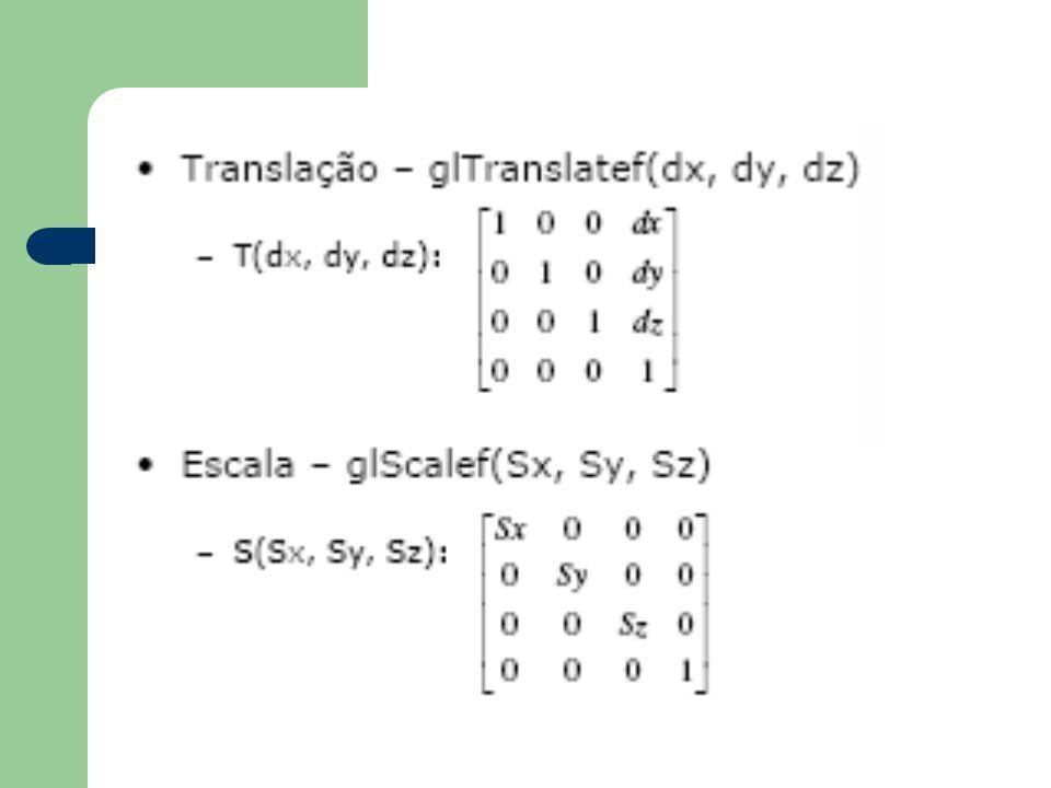 Coordenadas Homogêneas Adiciona uma terceira coordenada w. Um ponto 2D passa a ser um vetor com 3 coordenadas Uma transformação do sistema homogêneo p
