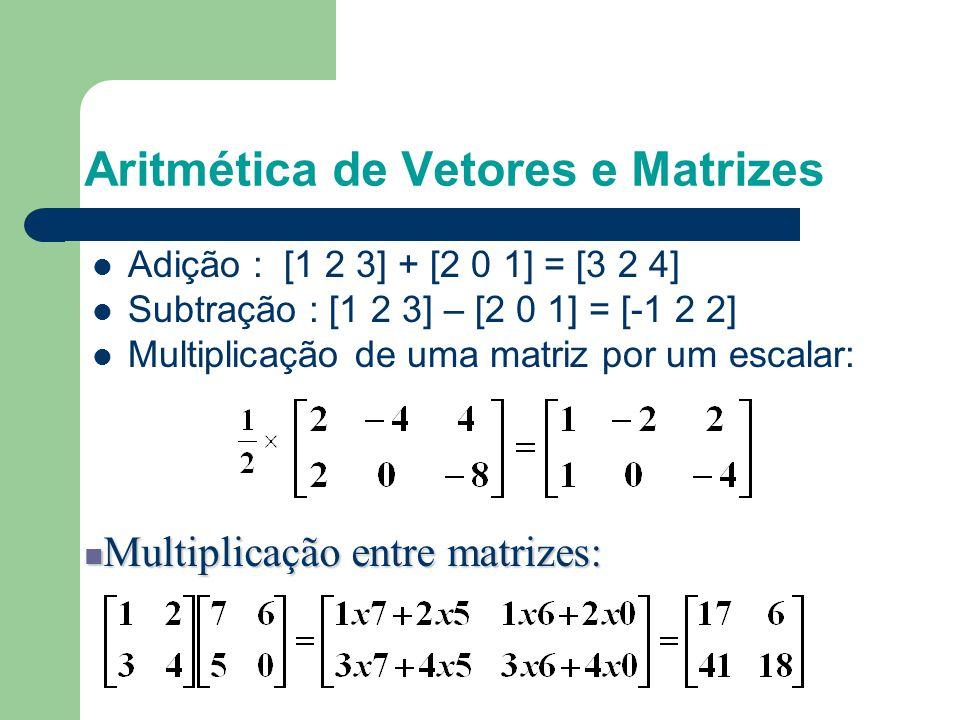 Revisão de matrizes e vetores Matrizes em Computação Gráfica – As matrizes são mais fáceis de usar e entender do que as equações algébricas – As matri