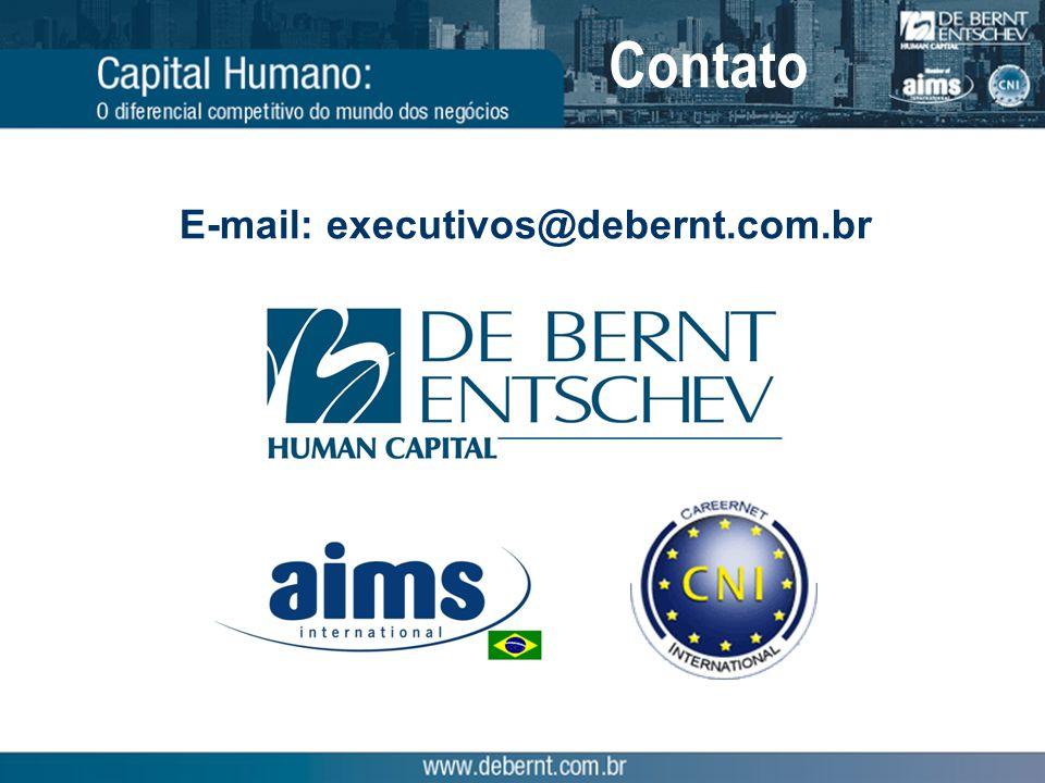Contato E-mail: executivos@debernt.com.br