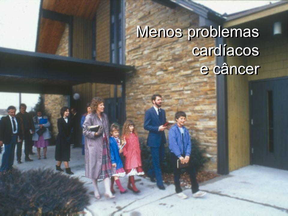 Menos problemas cardíacos e câncer Menos problemas cardíacos e câncer