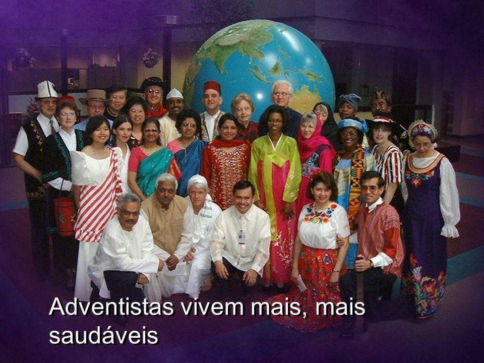 Adventistas vivem mais, mais saudáveis