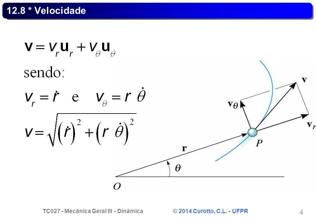 TC027 - Mecânica Geral III - Dinâmica © 2014 Curotto, C.L. - UFPR 35 Problema 12.203 - Solução