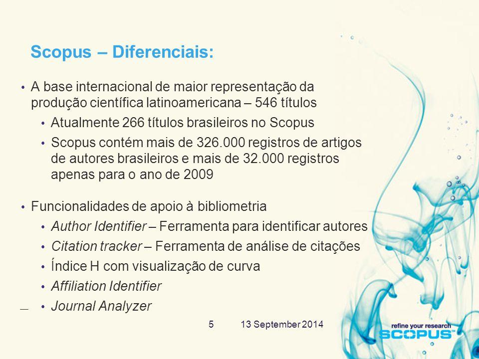 13 September 201416 Resumos, citações no Scopus, web e patentes