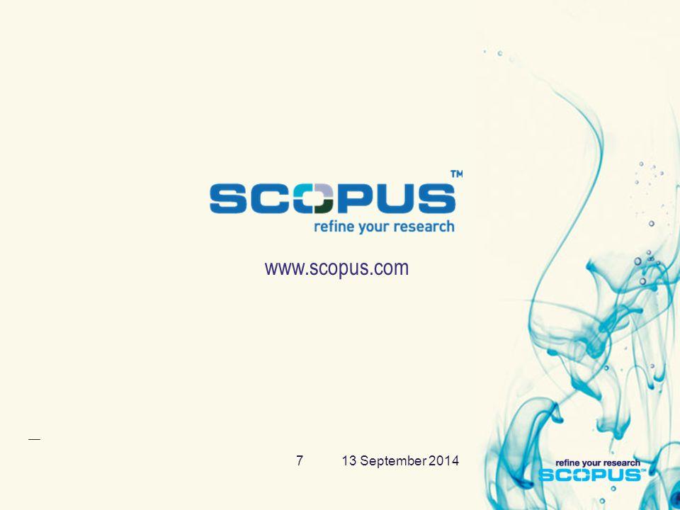 13 September 20147 www.scopus.com