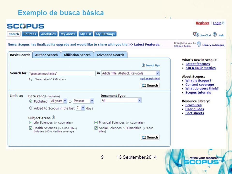 13 September 201420 Citation Tracker – análise de citações