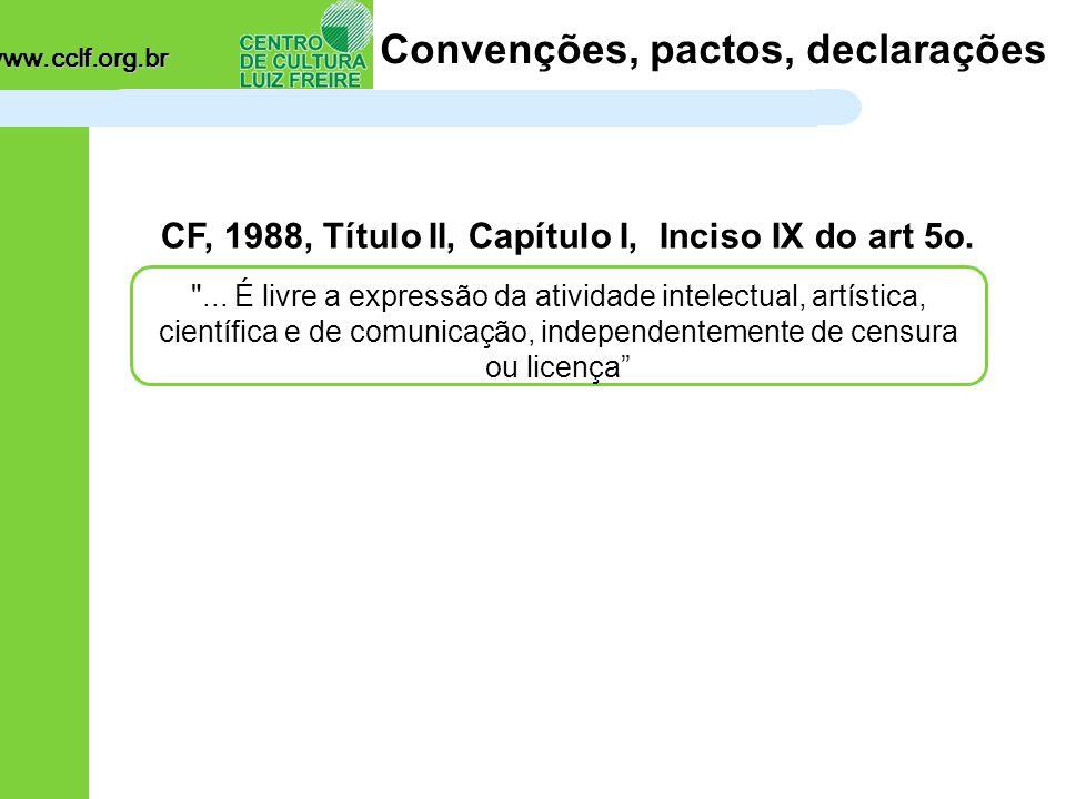 www.cclf.org.br E já se dizia há muito tempo...