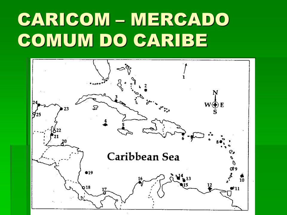 CARICOM – MERCADO COMUM DO CARIBE