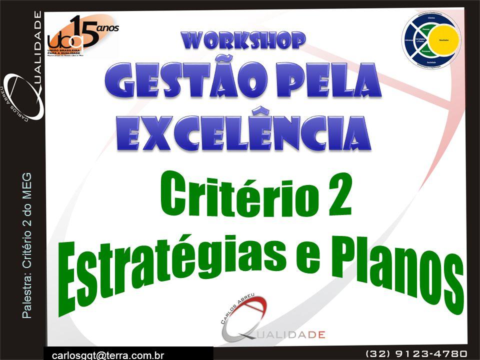 Palestra: Critério 2 do MEG carlosgqt@terra.com.br