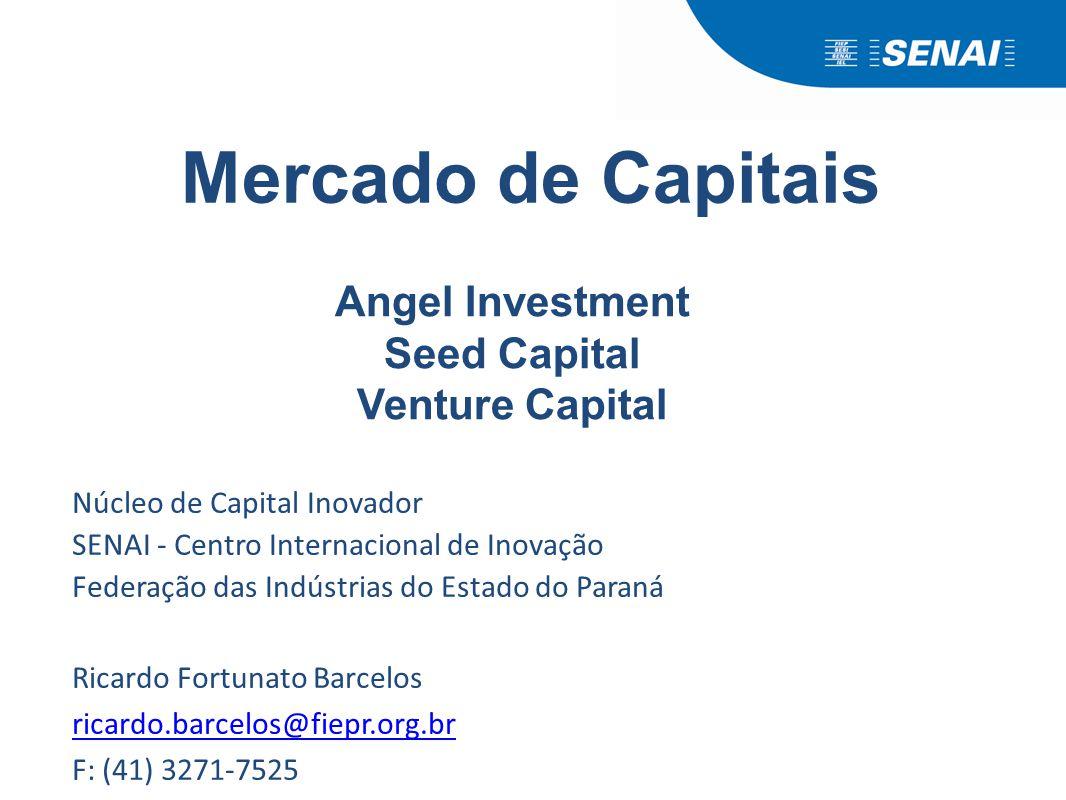 Núcleo de Capital Inovador SENAI - Centro Internacional de Inovação Federação das Indústrias do Estado do Paraná Ricardo Fortunato Barcelos ricardo.ba