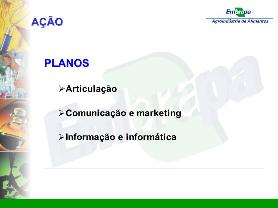 www.ctaa.embrapa.br sac@ctaa.embrapa.br AÇÃO PLANOS  Articulação  Comunicação e marketing  Informação e informática