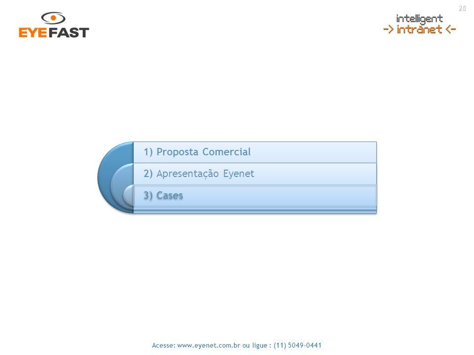 28 Acesse: www.eyenet.com.br ou ligue : (11) 5049-0441 1) Proposta Comercial 2) Apresentação Eyenet 3) Cases