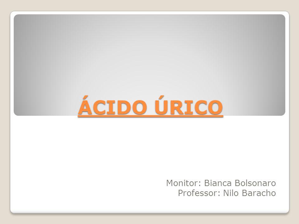 ÁCIDO ÚRICO Monitor: Bianca Bolsonaro Professor: Nilo Baracho