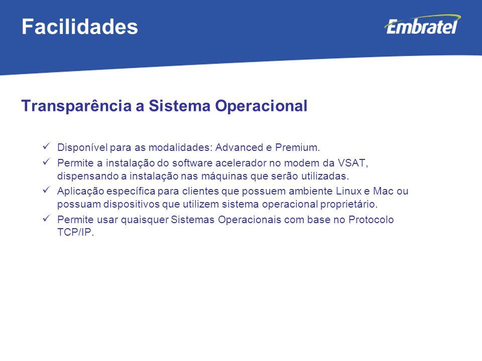Gestão de Mercado Transparência a Sistema Operacional Disponível para as modalidades: Advanced e Premium.