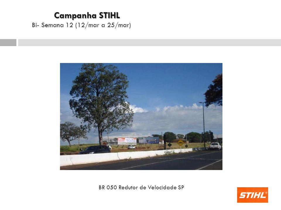 BR 262 Jockey Park Frente Saída Uberaba - Campo Florido Campanha STIHL Campanha STIHL Bi- Semana 12 (12/mar a 25/mar)