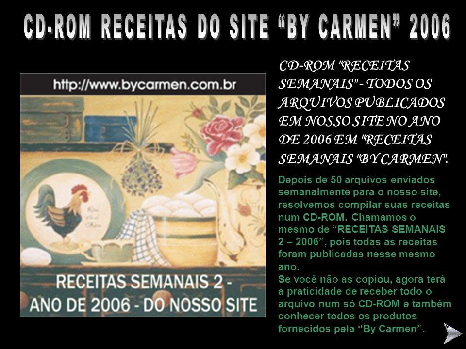 """CD-ROM RECEITAS REGIONAIS BRASILEIRAS – """"BY CARMEN"""" Receitas de nossa Culinária Brasileira Regional. Educativo, prático, interessante e especial. Um ó"""