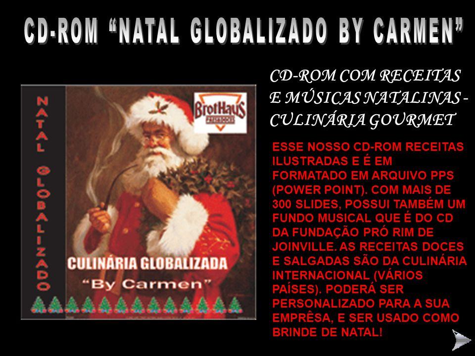 """CD-ROM RECEITAS DO SITE """"BY CARMEN"""" 2006 CD-ROM"""